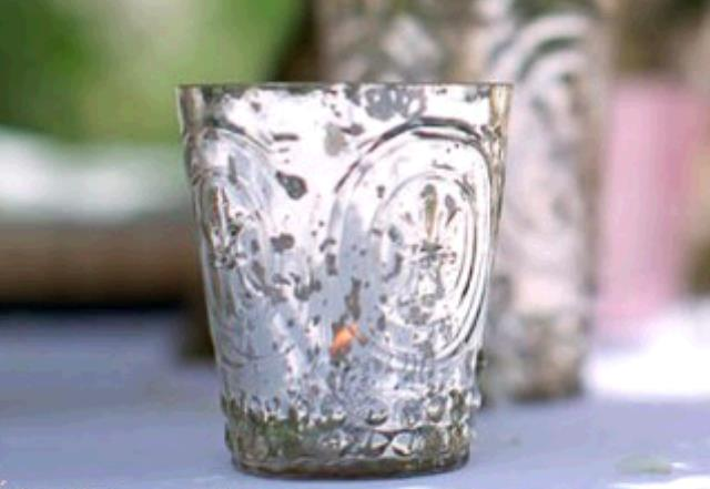 Where to find Mercury Glass Votive Light Hldr silver in Plymouth