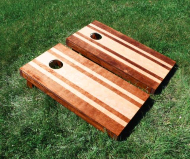 Where to find Stained Striped Hardwood Cornhole Game in Plymouth