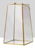 Rental store for Gold Trapezoid Lantern - 7  sq x 12  hg in Plymouth MA