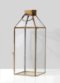 Rental store for Large Square Gold Lantern - 6  sq x 16 in Plymouth MA