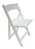 Rental store for Chair - Garden, White w  wht cushion in Plymouth MA